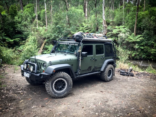 6f568f2071c Fully loaded Jeep roof rack by Uneek 4x4. Loading zoom. Fully loaded Jeep  roof rack ...