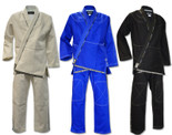 Ultima Brazilian Jiu Jitsu Kimonos with 2 Pants - White, Blue & Black