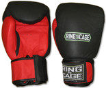 Thai-Style Sparring Gloves - Blk/Red