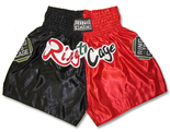 Muay Thai Shorts- Blk/Red