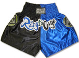 Muay Thai Shorts- Blk/Blue