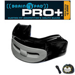 Brain Pad Mouth Guards - PRO+PLUS - Black/Grey - Junior