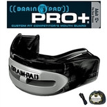 Brain Pad Mouth Guards - PRO+PLUS - Black/Grey - Adult