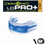 Brain Pad Mouth Guards -  LoPro+ Black/Clear _ Junior