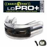 Brain Pad Mouth Guards -  LoPro+ Black/Clear _ Adult