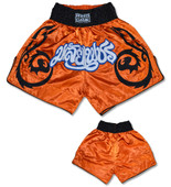 Muay Thai Shorts - Orange/Black