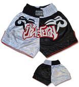 Muay Thai Shorts - White/Red/Black