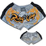 Retro Muay Thai Short - Silver/Black/Gold