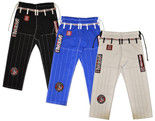 ROLL HARD Ripstop Gi Pant - White, Blue or Black