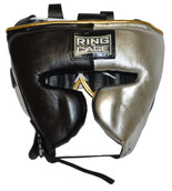 **FINAL SALE, NO RETURNS **Japanese Style Sparring Headgear - Metallic Silver/Black
