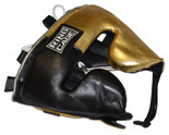 **FINAL SALE, NO RETURNS **Japanese Style Sparring Headgear - Metallic Gold/Black