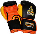 MUGHALS All Purpose Training Boxing Gloves, Gel-Lined + Molded-Foam, Safety-Strap