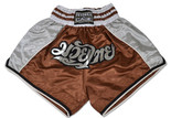 Muay Thai Shorts - Brown/Silver