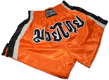Muay Thai Shorts - Orange/Black/White