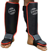 CUSTOM Hook&Loop Grappling Shin instep - Open Back