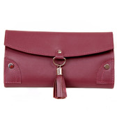 Leather Jewelry Travel Case in Plum