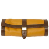 Travel Case Jewelry Roll Up Case Leather Tan