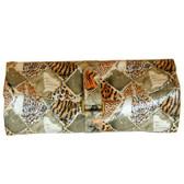 Travel Jewelry Roll Organizer Leopard Print