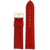 Watch Band Calfskin Leather Red Comfort padded
