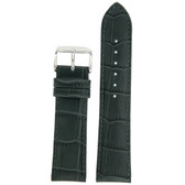 Grey Leather Watch Band in Alligator Grain by Tech Swiss - Top View