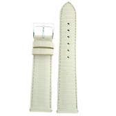 Watch Band Genuine Lizard Leather Strap White Color