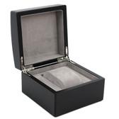 Single Watch Box 1 Extra Large Watch Wood Black Finish Removable Cushion