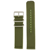 Nylon Watch Band Military Sport Strap Army Green Stainless Heavy Buckle