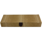 Travel Jewelry Box Organizer Valet With Compartments Animal Motif Tan