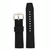 Silicone Rubber Watch Band Black 24mm
