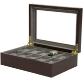 Watch Box in Espresso by Tech Swiss - Store up to 10 Watches - TSBOX10ES - A