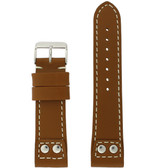 Watch Band Navy Tan Brown Pilot Style White Stitching