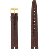 Gucci Watch Band 16mm Brown Crocodile Grain model 2000M