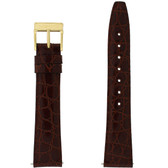 Watch Band 17mm Brown Genuine Leather Crocodile model 2200M 3000M -