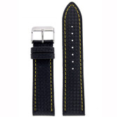 Carbon Fiber Print Leather Watch Band - Top View