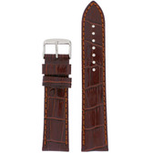 Extra Long Leather Crocodile Grain Watch Band - Top View