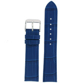 Blue Crocodile Grain Watch Band - Top View