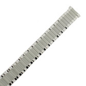 Curved End Speidel Twist-O-Flex Silver tone Stainless Steel Expansion Watch Band