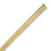 Expansion Metal Watch Band in Stretch Two-Tone Ladies MET172