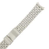 Stainless Steel Linked Watch Band Metal Curved Ends