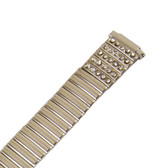 Watch Band Expansion Ladies Silver Color With Rhinestones fits 11mm to 14mm