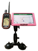Double Suction Windshield Garmin Drivetrack 70/71 + Alpha or Astro Mount