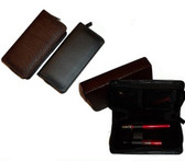 Leather zip case ecigforlife for electronic cigarette starter kits