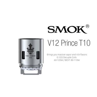 SMOK TFV12 Prince T10 coil at ecigforlife