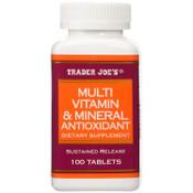 Trader Joe's Multivitamin & Mineral Antioxidant (100 Tablets)