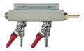 CO2 Distributor, 2 Outlet Barb