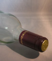 Shrink Wrap Wine Bottle Toppers/30- Burgundy w/ Gold Grape