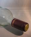 Shrink Wrap Wine Bottle Toppers/30- Burgundy w/ Gold Grape