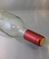 Shrink Wrap Wine Bottle Toppers/30-Metallic Ruby Red