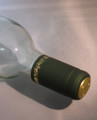 Shrink Wrap Wine Bottle Toppers/30- Green w/ Gold Grape
