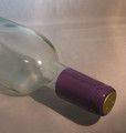 Shrink Wrap Wine Bottle Toppers/100- Purple